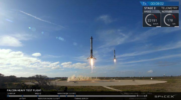 Falcon Heavy Test Flight 特斯拉跑车上太空